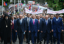 Президент Серж Саргсян в Арцахе принял участие в праздничных мероприятиях