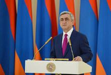 Նախագահ Սերժ Սարգսյանի շնորհավորական ուղերձը Հանրապետության տոնի առթիվ