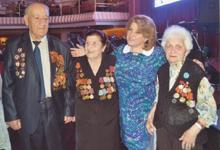 Первая леди Армении Рита Саргсян встретилась с ветеранами Великой Отечественной войны