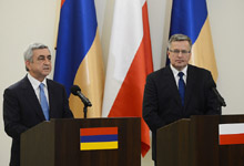 Statement by President Serzh Sargsyan at the joint press conference with the President of the Republic of Poland Bronisław Komorowski