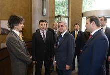 Президент присутствовал на церемонии открытия гостиничного комплекса «Туфенкян традиционный Ереван»