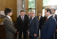President Sargsyan attended the ceremony of opening the Tufenkian Traditional Yerevan hotel compound