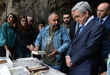 Working visit of President Serzh Sargsyan to Ararat and Vayots Dzor marzes