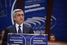 Речь Президента Сержа Саргсяна в Парламентской Ассамблее Совета Европы