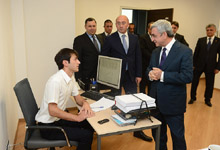 President Serzh Sargsyan conducted a working visit to Tavush marz