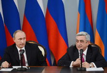 Press conference of President Serzh Sargsyan and President Vladimir Putin on the results of the meeting
