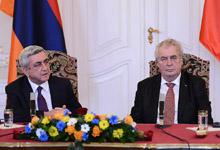 Совместная пресс-конференция Президента Сержа Саргсяна и Президента Чехии Милоша Земана