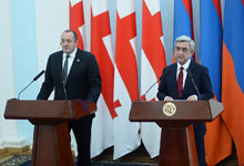 The statement of President Serzh Sargsyan on the results of the negotiations with President Giorgi Margvelashvili before the representatives of mass media