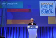 Նախագահ Սերժ Սարգսյանի ելույթը Եվրոպական ժողովրդական կուսակցության գագաթնաժողովում