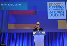 Remarks by President Serzh Sargsyan at the Summit of the European People's Party