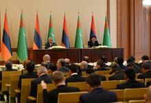 Նախագահ Սերժ Սարգսյանի ելույթը Թուրքմենստանի Նախագահ Գուրբանգուլի Բերդիմուհամեդովի հետ բանակցությունների արդյունքներով համատեղ մամուլի ասուլիսի ժամանակ
