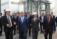 Президент Серж Саргсян посетил модернизированный Араратский золотоизвлекательный завод