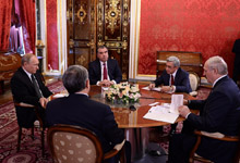 Նախագահ Սերժ Սարգսյանի խոսքը Ռուսաստանի, Բելառուսի, Ղրղզստանի և Տաջիկստանի նախագահների հետ Մոսկվայում կայացած ոչ պաշտոնական հանդիպման ժամանակ