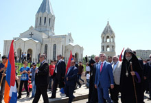 President Serzh Sargsyan took part in festive events in Artsakh