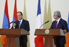 Совместная пресс-конференция Президента Сержа Саргсяна и Президента Франции Франсуа Олланда