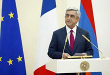 Тост Президента Сержа Саргсяна во время государственного ужина в честь Президента Французской Республики Франсуа Олланда
