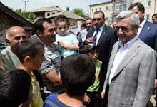 President Serzh Sargsyan conducted working visit to Tavush marz