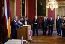 Welcome speech by President Serzh Sargsyan at Vienna's city hall