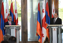 Statement by President Serzh Sargsyan on results of negotiations with Georgia's President Giorgi Margvelashvili at joint press conference