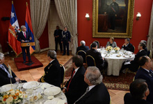 Toast by President Serzh Sargsyan at an official dinner held on behalf of President Michelle Bachelet of the Republic of Chile