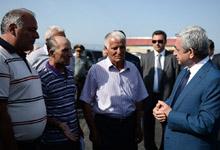 President Serzh Sargsyan visits Gegharkunik marz