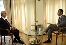President Serzh Sargsyan's interview to Armnews TV