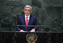 Նախագահ Սերժ Սարգսյանի ելույթը ՄԱԿ-ի գլխավոր ասամբլեայի 69-րդ նստաշրջանում