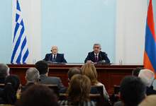 Statement by President Serzh Sargsyan on the results of the negotiations with President Karolos Papoulias of Greece