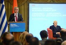 Welcoming remarks by President Serzh Sargsyan at the Armenian-Greek business forum