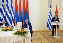 Toast by President Serzh Sargsyan at the state supper held in honor of Greek President Karolos Papoulias