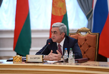 Նախագահ Սերժ Սարգսյանի ելույթը ԱՊՀ պետությունների ղեկավարների խորհրդի նիստին