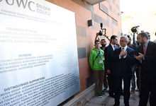 President Serzh Sargsyan takes part in opening of Dilijan International School