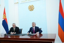 Statement by President Serzh Sargsyan on the results of the negotiations with Serbian President Tomislav Nikolic