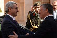 Official visit of President Serzh Sargsyan to  the Hashemite Kingdom of Jordan