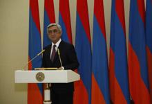 Речь Президента Сержа Саргсяна на церемонии вручения Премии Президента РА за вклад мирового значения в сферу информационных технологий