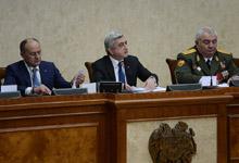 Вступительное слово Президента Сержа Саргсяна в Министерстве обороны