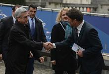 Working visit of President Serzh Sargsyan to Belgium