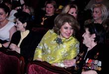 Rita Sargsyan attends Valery Leontiev's concert