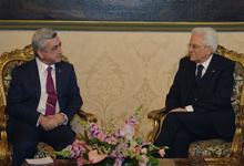 Official visit of President Serzh Sargsyan to the Republic of Italy