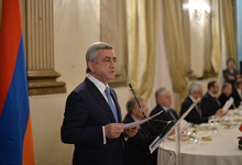 Address by President Serzh Sargsyan at the Supper with Italian Parliamentarians