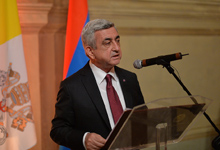 Remarks by President Serzh Sargsyan at the Supper Hosted by the Ambassador of the Republic of Armenia to the Holy See in honor of the RA President