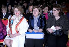 Rita Sargsyan attended the exhibition of the Gallery 100 Collection, dedicated to the Armenian Genocide Centennial