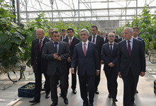 Рабочий визит Президента Сержа Саргсяна в Котайкскую область