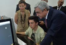 Рабочий визит Президента Сержа Саргсяна в Арагацотнскую и Ширакскую области