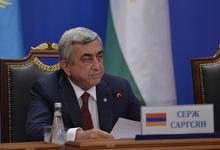 Նախագահ Սերժ Սարգսյանի ելույթը ԶԼՄ ներկայացուցիչների առջև ՀԱՊԿ Հավաքական անվտանգության խորհրդի նստաշրջանի արդյունքներով