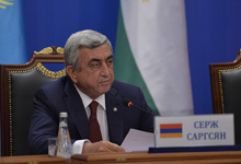 Press Statement by President Serzh Sargsyan on the Results of the Session of the CSTO Collective Security Council