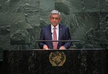 Выступление Президента Сержа Саргсяна на 70-й сессии Генеральной Ассамблеи ООН