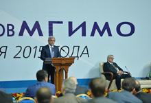 Address by RA President Serzh Sargsyan during the 3rd International Forum of the MSIIR Alumni
