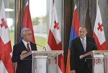 Press Statement by President Serzh Sargsyan on the Results of the Meeting with Georgia's President Giorgi Margvelashvili