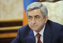 President Serzh Sargsyan sends condolence letter to French President Francois Hollande